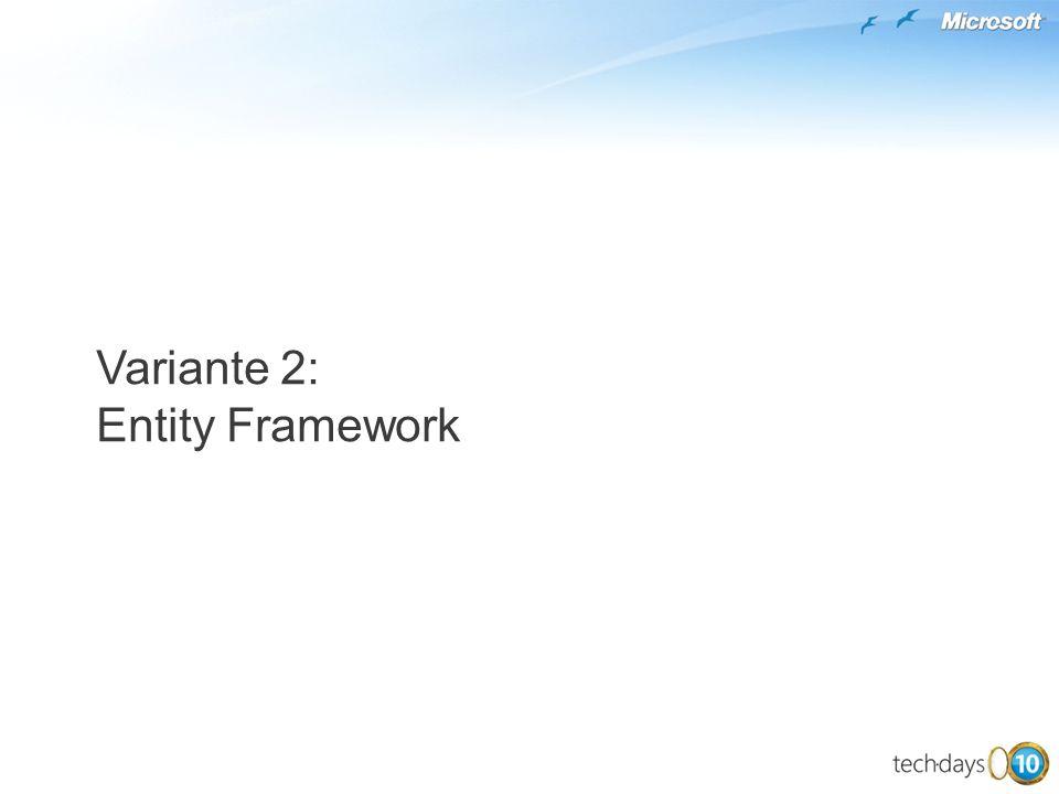 Variante 2: Entity Framework