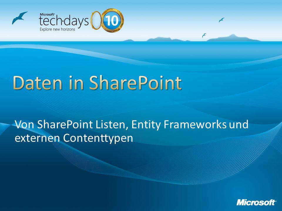 Variante 1: Datenhaltung in SharePoint Listen