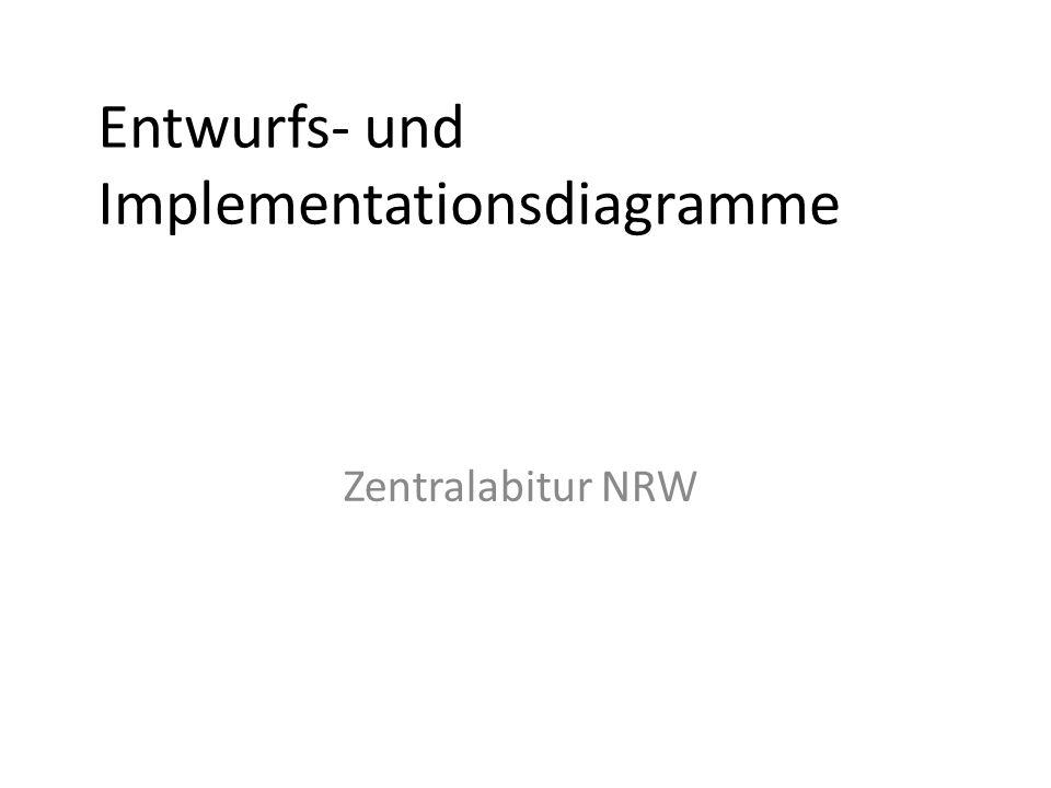 Entwurfs- und Implementationsdiagramme Zentralabitur NRW