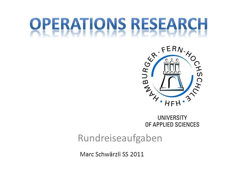 Rundreiseaufgaben Marc Schwärzli SS 2011