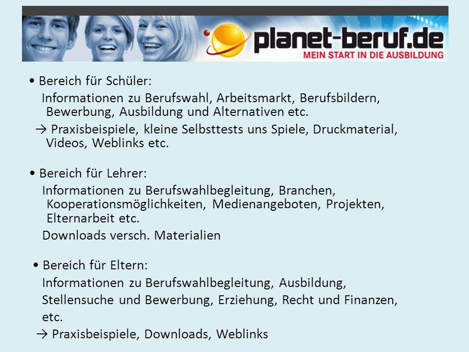 3.1 Gruppenarbeit: Der Berufswahlfahrplan – 3 Zugänge (Schüler, Eltern.