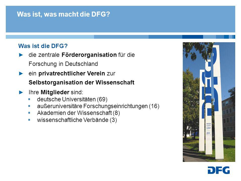 Was macht die DFG.