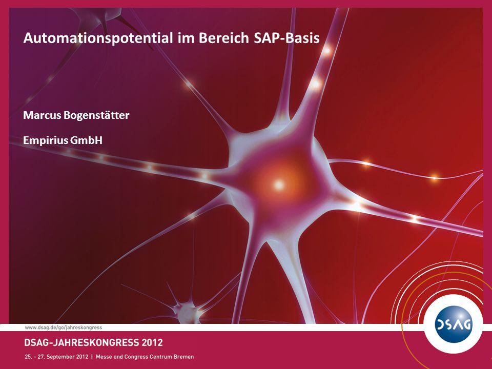12 Bereitstellen eines SAP Systems Sandbox MontagDienstag Mittwoch Sammeln d.