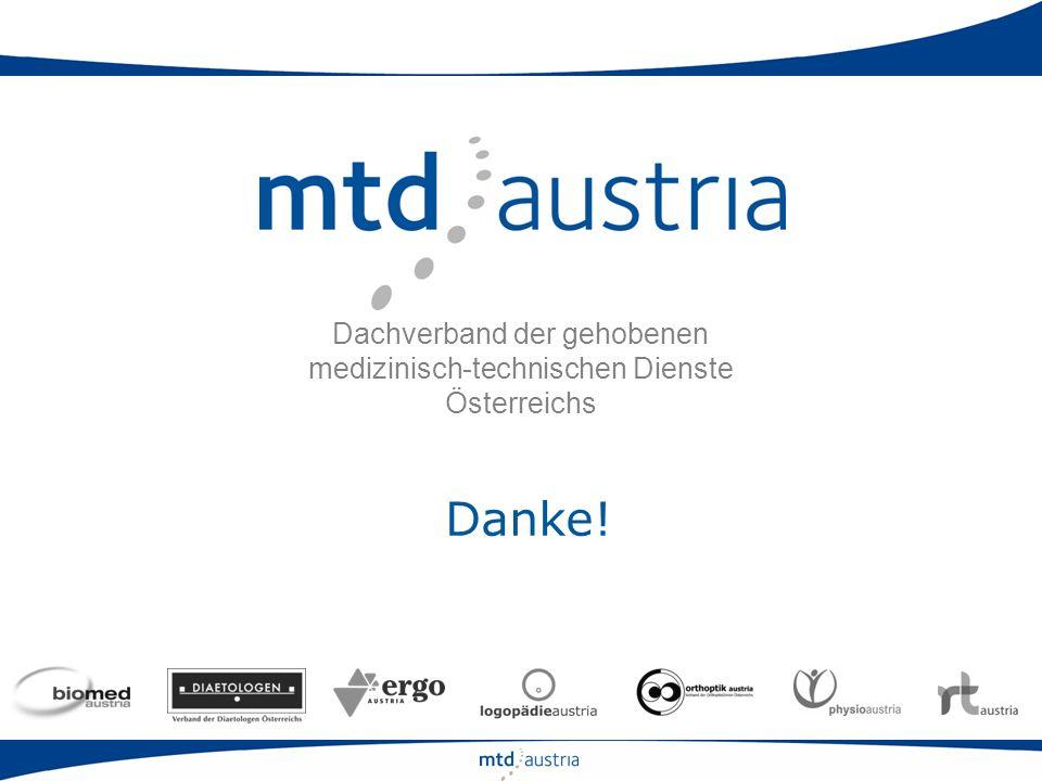 Dachverband der gehobenen medizinisch-technischen Dienste Österreichs Danke!
