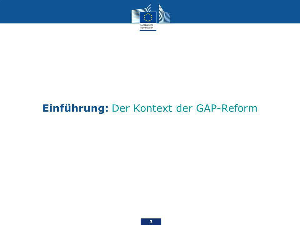 3 Einführung: Der Kontext der GAP-Reform
