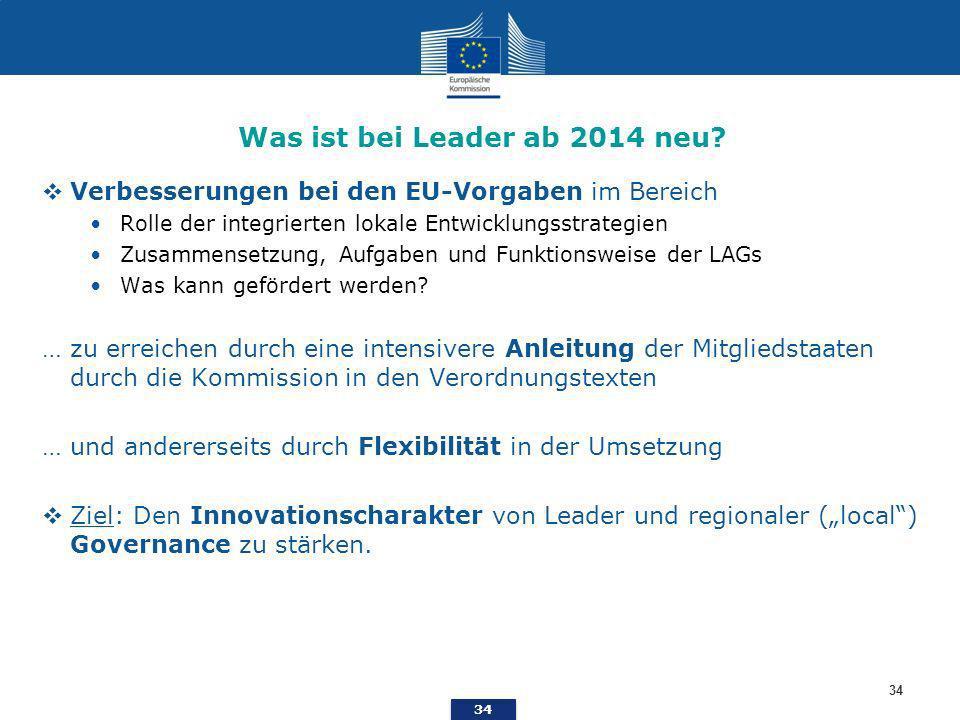 34 Was ist bei Leader ab 2014 neu.