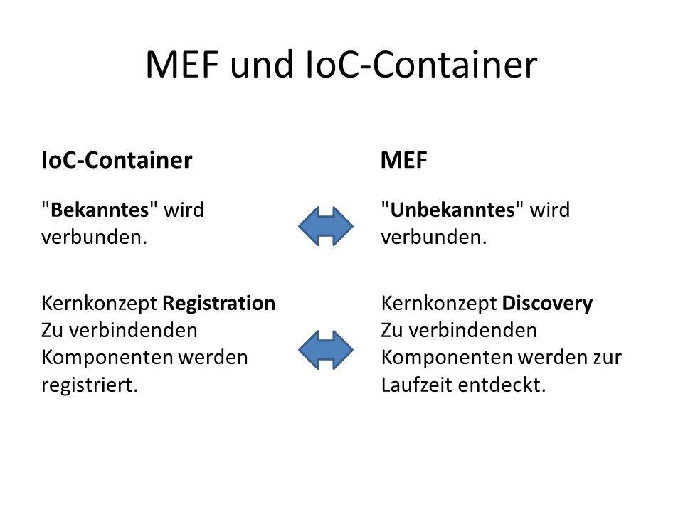 MEF und IoC-Container IoC-Container
