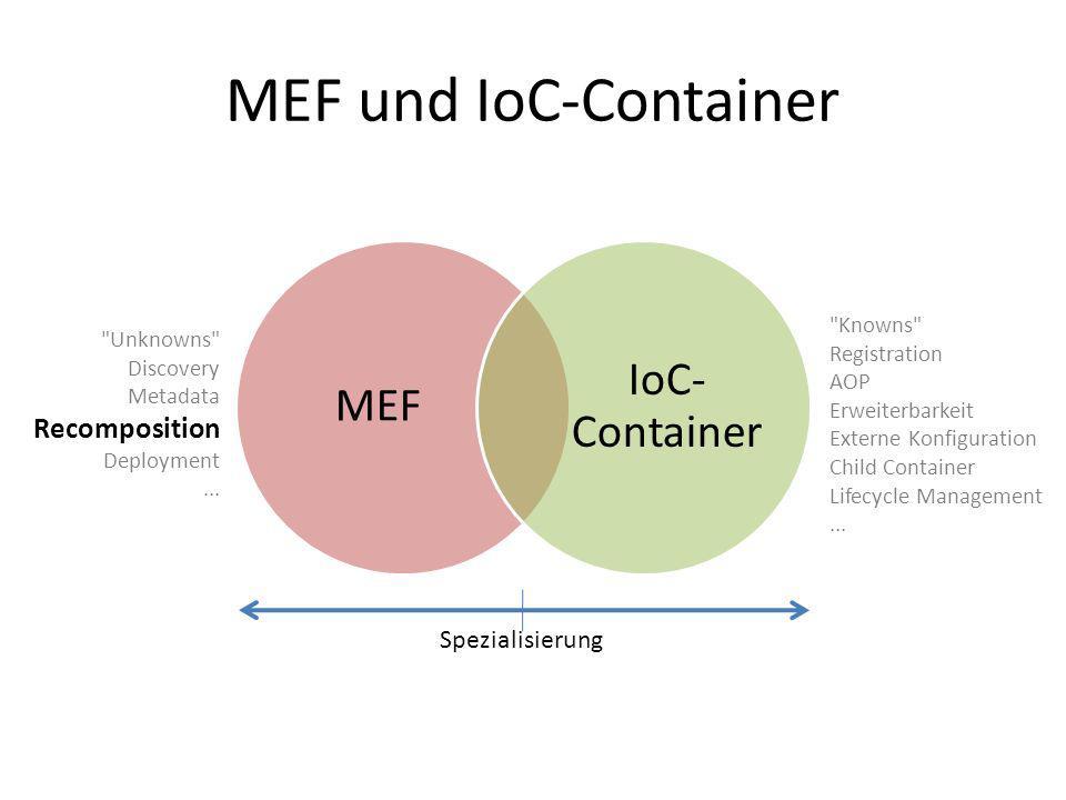 MEF und IoC-Container MEF IoC- Container Spezialisierung