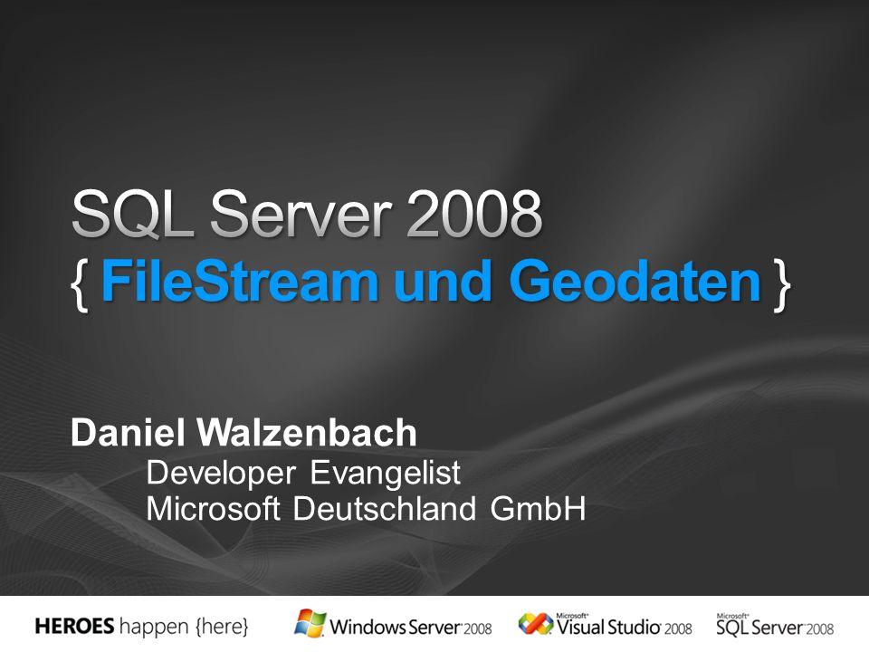 Daniel Walzenbach Developer Evangelist Microsoft Deutschland GmbH