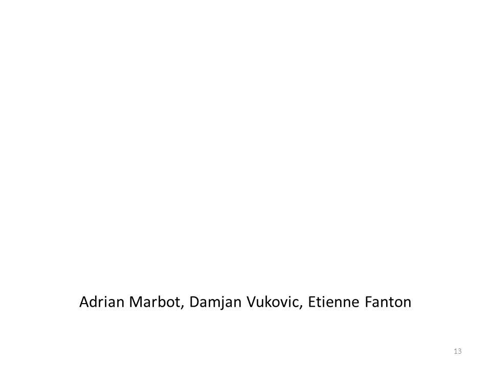Adrian Marbot, Damjan Vukovic, Etienne Fanton 13