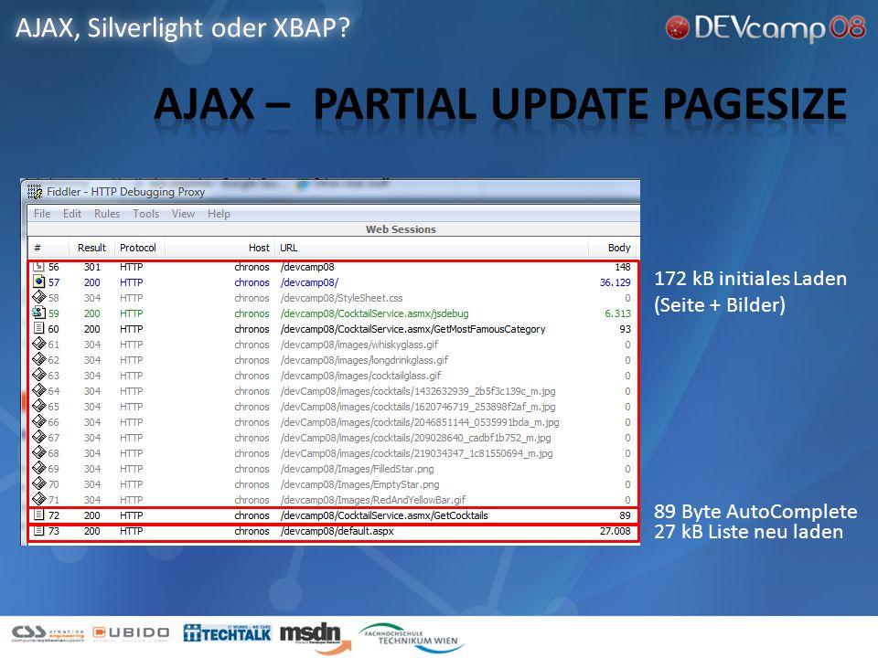 AJAX, Silverlight oder XBAP.