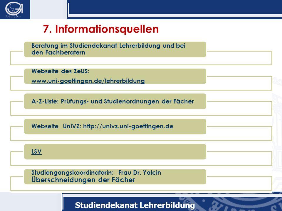 Studiendekanat Lehrerbildung 7.