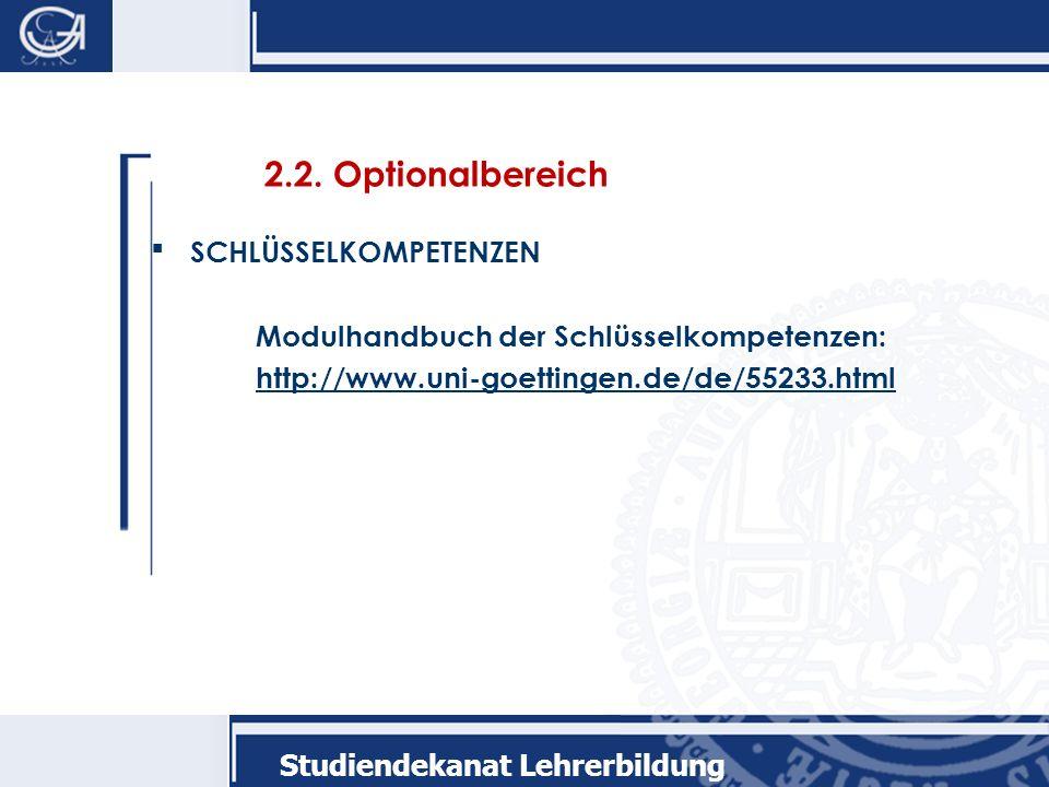 Studiendekanat Lehrerbildung 2.2.