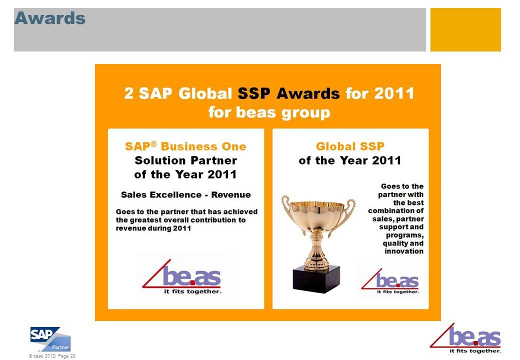 © beas 2012/ Page 28 Awards