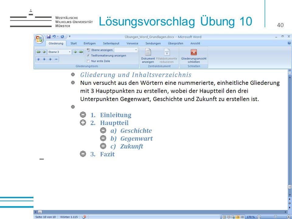 Lösungsvorschlag Übung 10 40