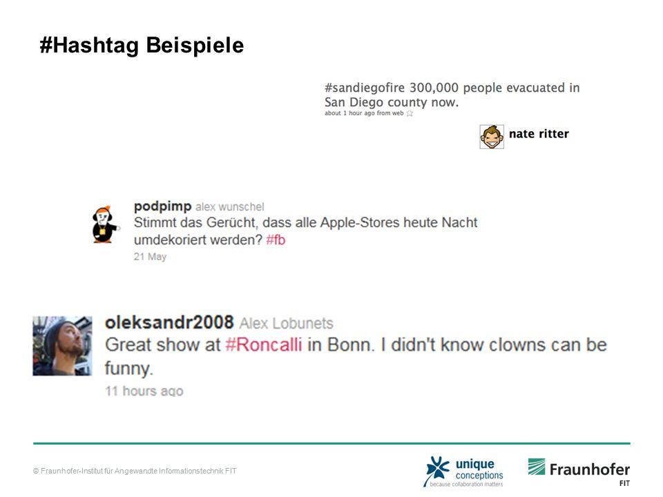 © Fraunhofer-Institut für Angewandte Informationstechnik FIT Real time Darstellung http://aworldoftweets.frogdesign.com/