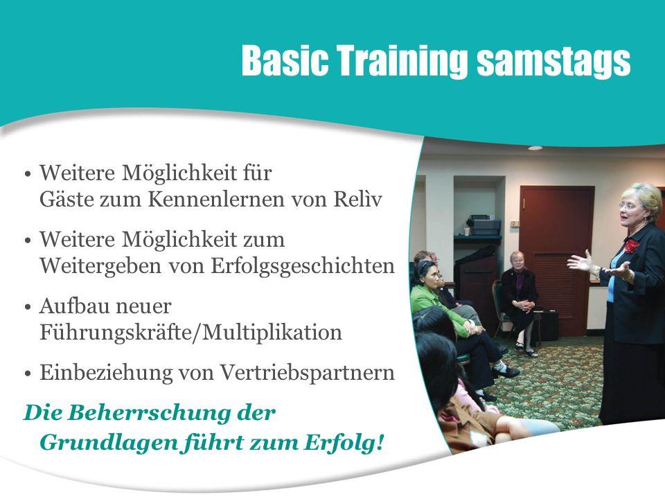 Weitere Möglichkeit für Gäste zum Kennenlernen von Relìv Weitere Möglichkeit zum Weitergeben von Erfolgsgeschichten Aufbau neuer Führungskräfte/Multip