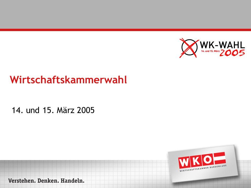 Wirtschaftskammerwahl 14. und 15. März 2005