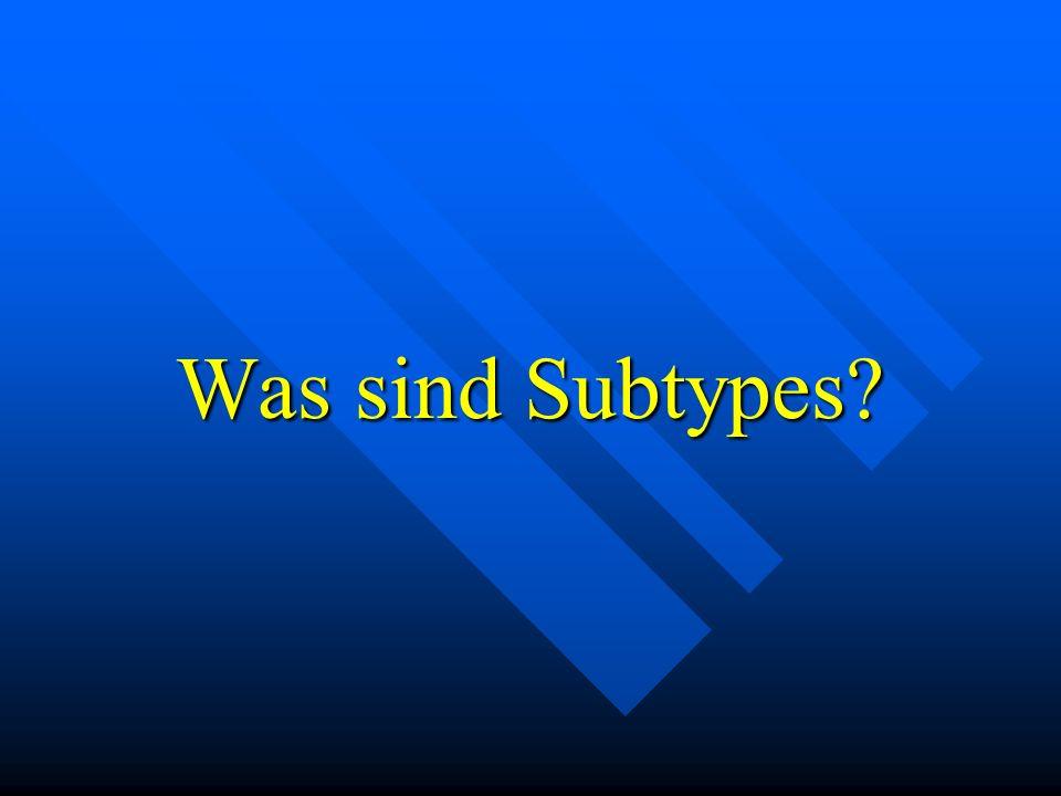 Das sind Subtypes.Objekte in Objektklassen, features in feature Klassen und ggf.