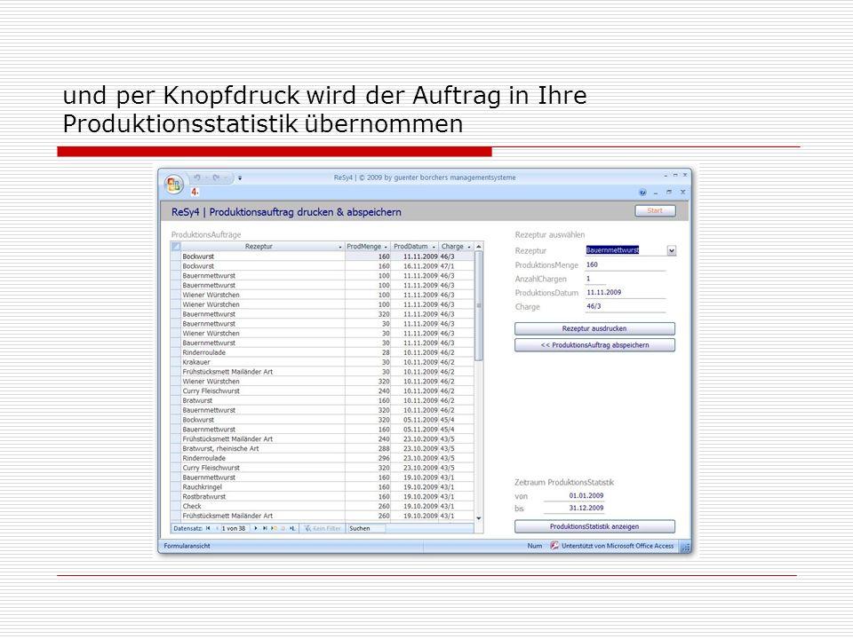 Für die Erstellung von Spezifikationen gibt es ein Formular, das alle notwendigen Angaben berücksichtigt...