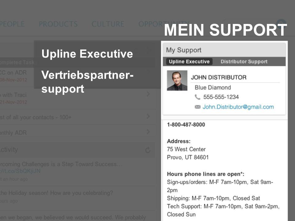 MEIN SUPPORT Upline Executive Vertriebspartner- support