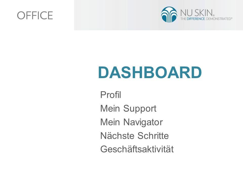 DASHBOARD Profil Mein Support Mein Navigator Nächste Schritte Geschäftsaktivität