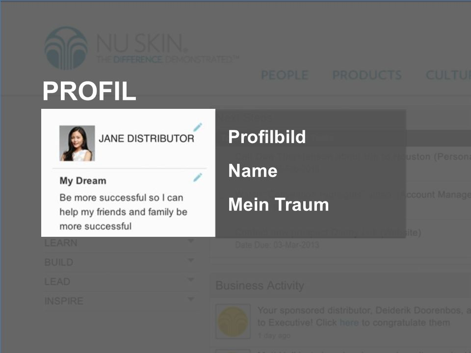 PROFIL Profilbild Name Mein Traum