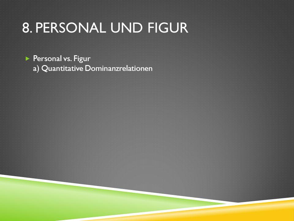 8. PERSONAL UND FIGUR Personal vs. Figur a) Quantitative Dominanzrelationen