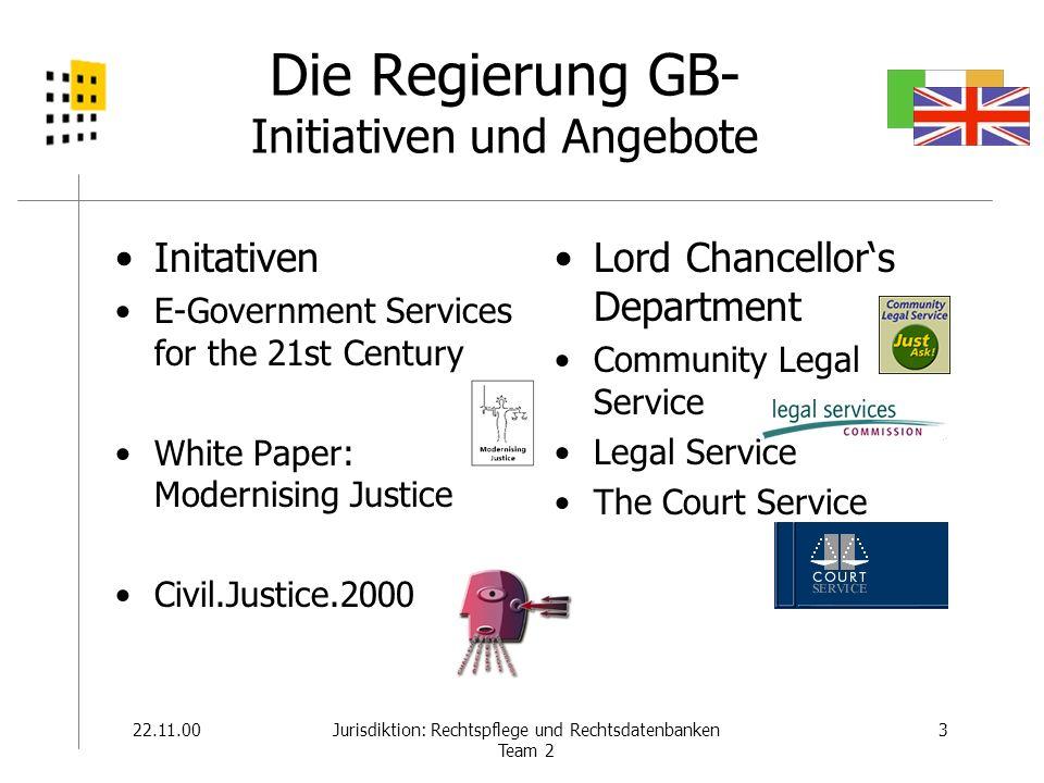 22.11.004Jurisdiktion: Rechtspflege und Rechtsdatenbanken Team 2