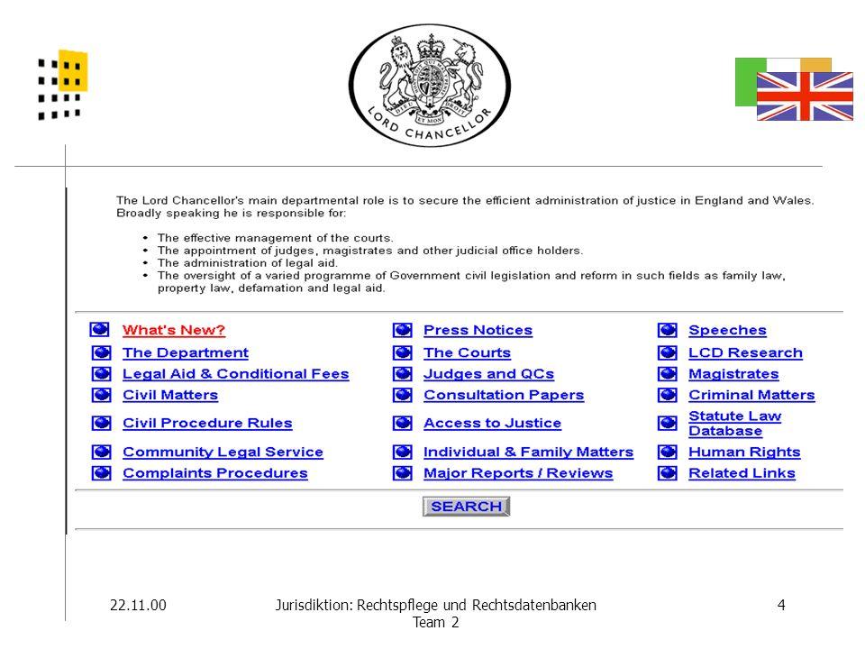 Portale: Beispiele 17.11.0015Jurisdiktion: Rechtspflege und Rechtsdatenbanken Team 2