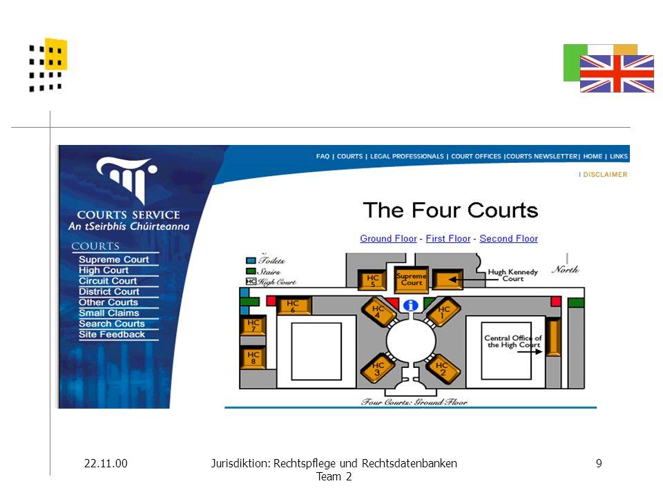 22.11.009Jurisdiktion: Rechtspflege und Rechtsdatenbanken Team 2