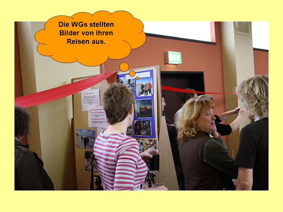 Die WGs stellten Bilder von ihren Reisen aus.