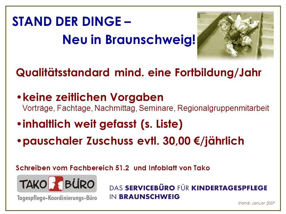 STAND DER DINGE – Neu in Braunschweig. Qualitätsstandard mind.