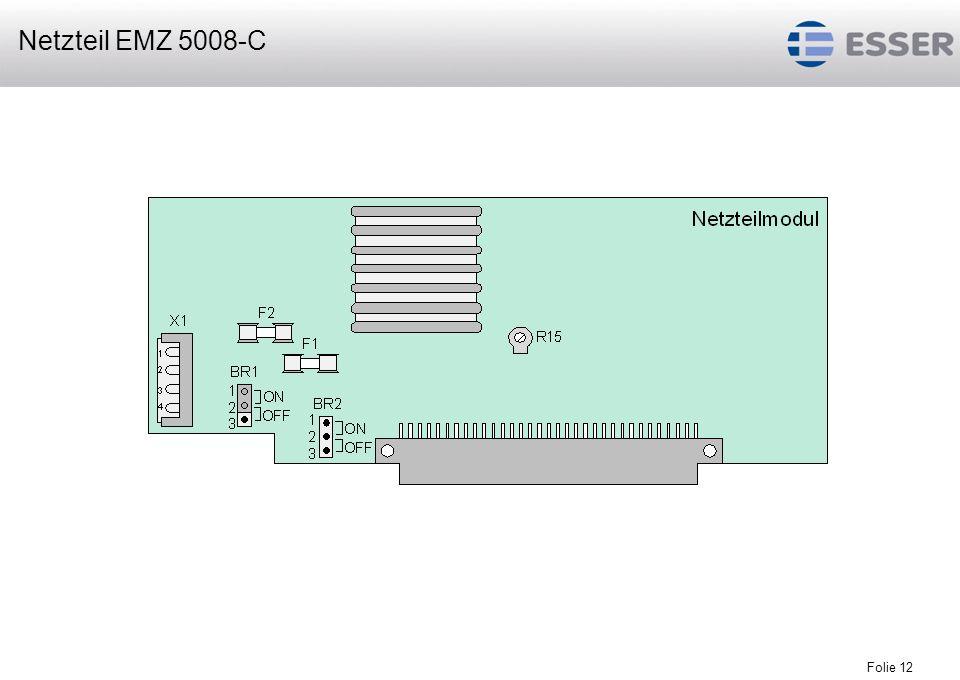 Folie 12 Netzteil EMZ 5008-C