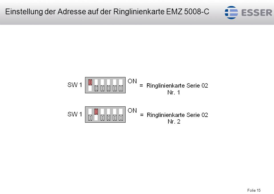 Folie 16 maximal 2 Ringlinienkarten pro EMZ 5008-C maximal 64 Busteilnehmer inkl.