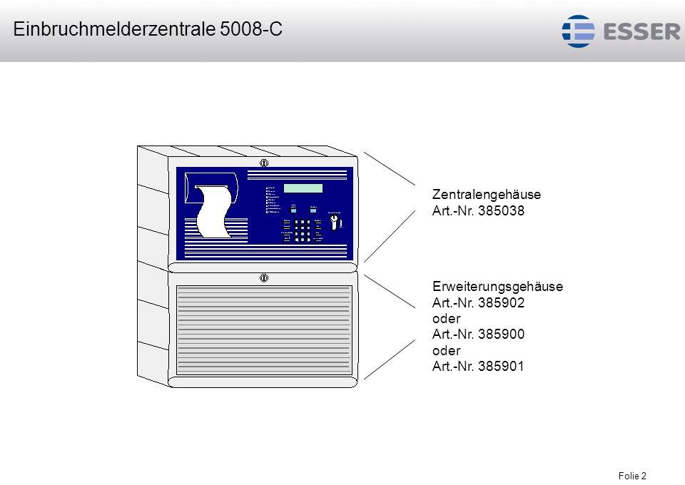 Folie 3 Integriertes Bedienfeld der EMZ 5008-C