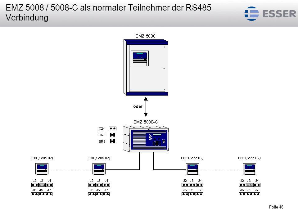 Folie 48 EMZ 5008 / 5008-C als normaler Teilnehmer der RS485 Verbindung