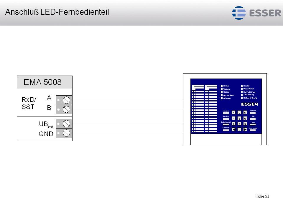 Folie 53 Anschluß LED-Fernbedienteil