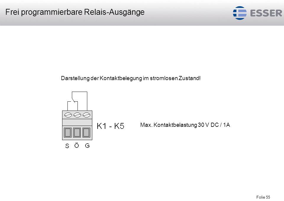 Folie 56 2³ = 2 x 2 x 2 = 8 Einstellung der LED-Fernbedienteiladresse, Adresse 8 (binär) Adressierung / DIP-Schalter S1