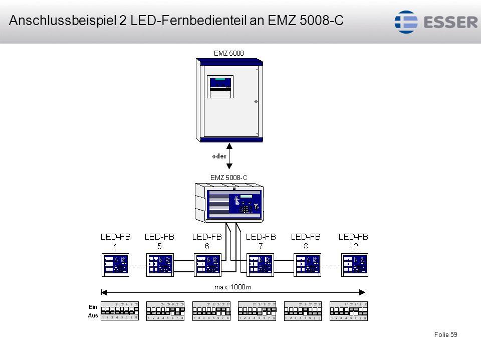 Folie 59 Anschlussbeispiel 2 LED-Fernbedienteil an EMZ 5008-C