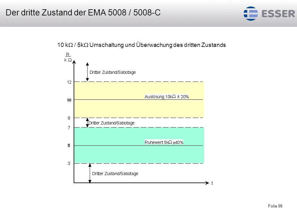 Folie 98 10 k / 5k Umschaltung und Überwachung des dritten Zustands Der dritte Zustand der EMA 5008 / 5008-C