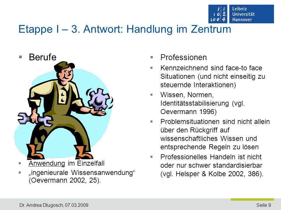 Seite 9Dr.Andrea Dlugosch, 07.03.2009 Etappe I – 3.