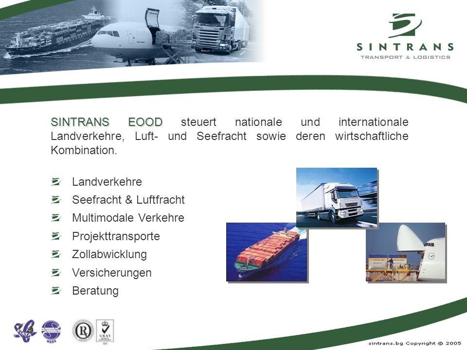 Sammelguttransporte Teil- und Komplettladungen Gefahrguttransporte (ohne Kl.