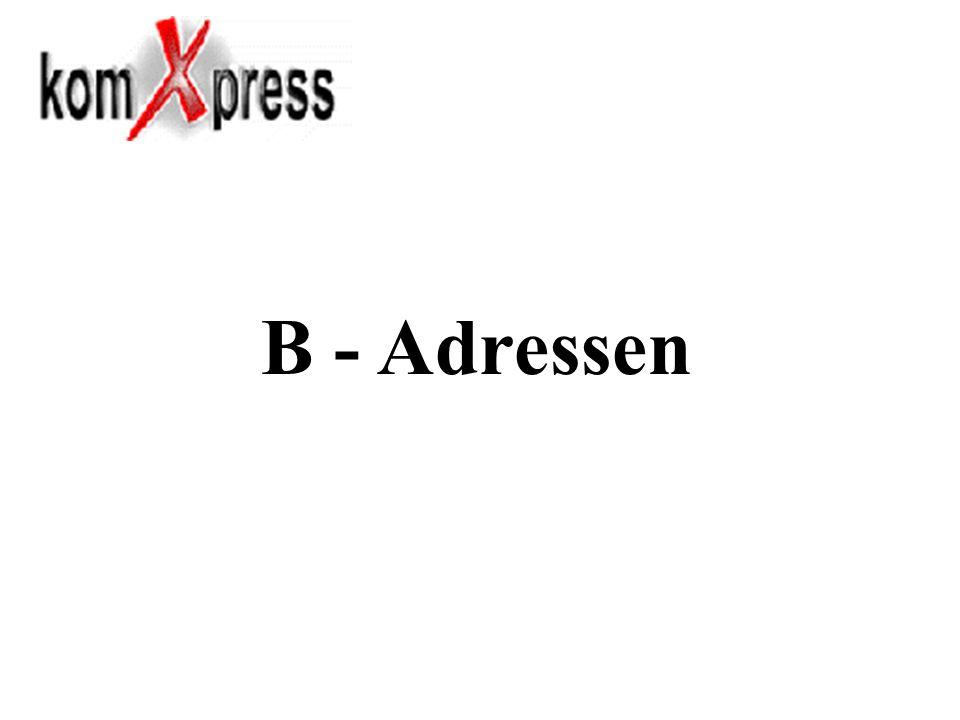 B - Adressen