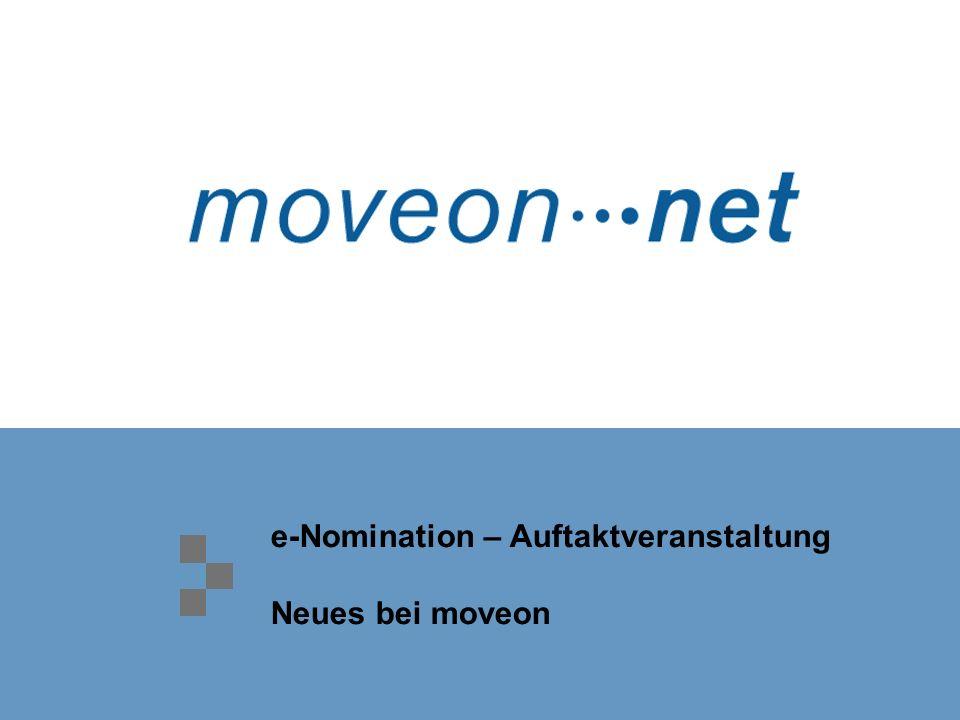 e-Nomination – Auftaktveranstaltung Neues bei moveon