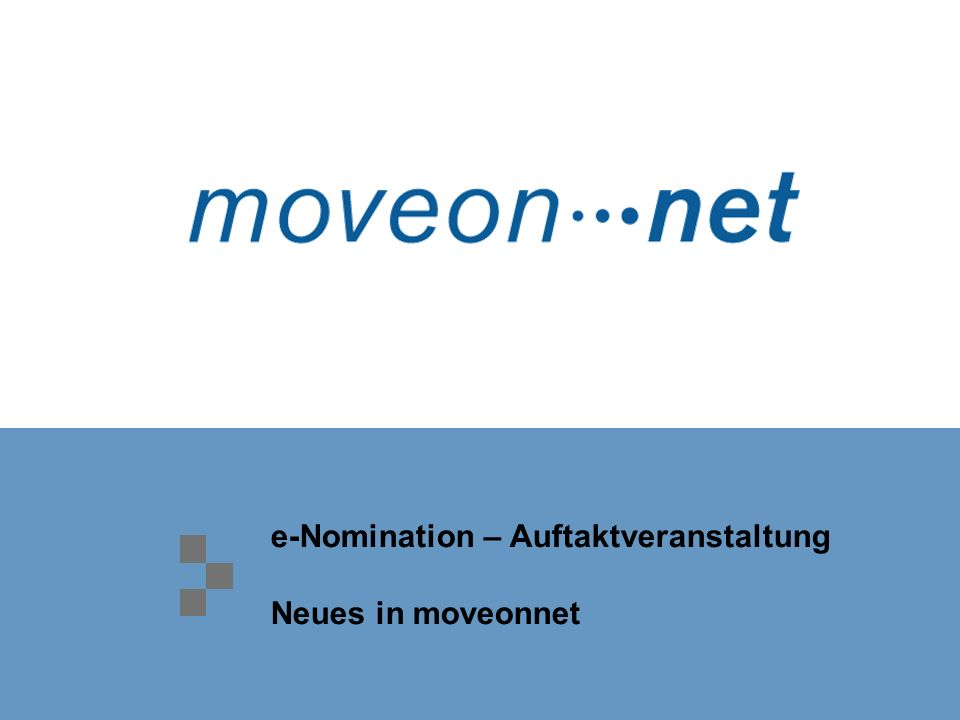 Seite 20 / 78 March 2007 moveonnet Arbeitsgruppe - Einführungsplan Ende Februar: Fertigstellung der Funktionen für e-Nomination in Ende März: Fertigstellung der Funktionen für e-Nomination in moveon März / April: Testphase Mitte April: Start von e-Nomination durch moveonnet Arbeitsgruppe ab April: Marketingaktionen von unisolution Mai: Technische Entwicklung von e-Agreements September: Einführung von e-Agreements