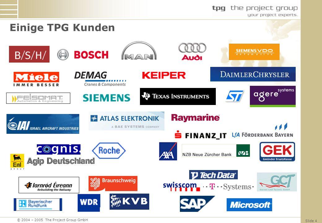 © 2004 – 2005 The Project Group GmbH Slide 15 Serverseitige Ereignisse Steuern von Prozeduren / Workflows Auslöser können Ereignisse sein wie: Speichern Veröffentlichen Schließen...