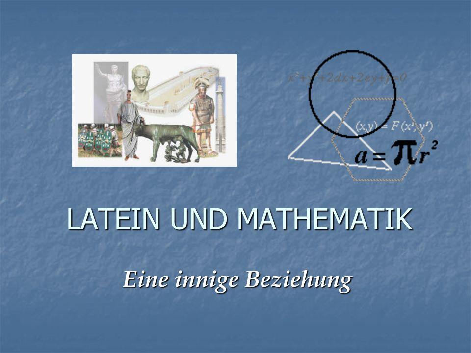 1) Arithmetik und Algebra Substantive auf –or Substantive auf –or bezeichnen ein handelndes Subjekt bezeichnen ein handelndes Subjekt (sog.