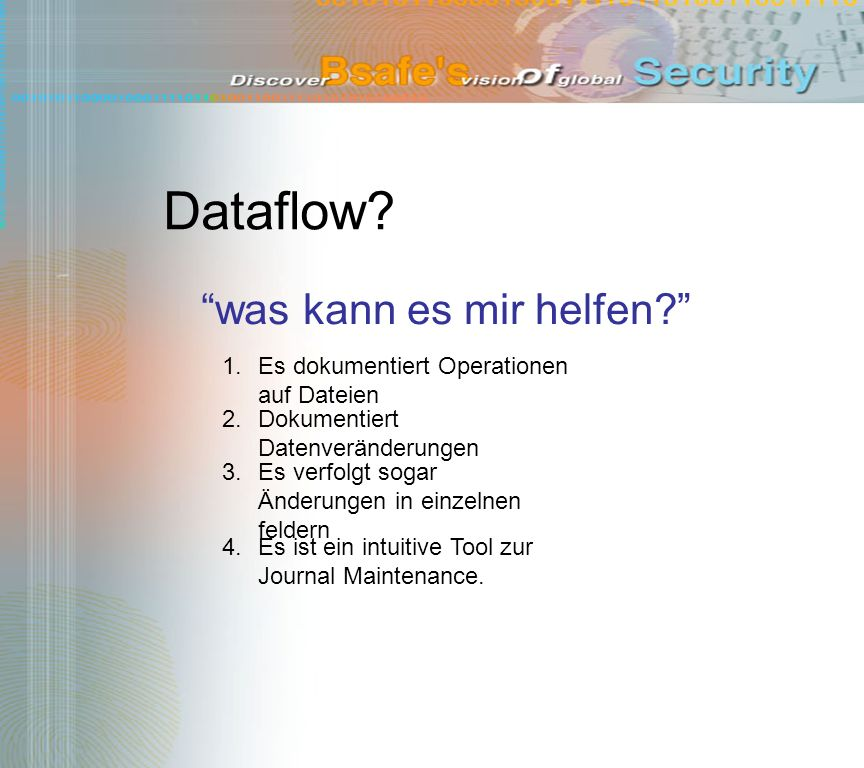 Dataflow! hier in Aktion