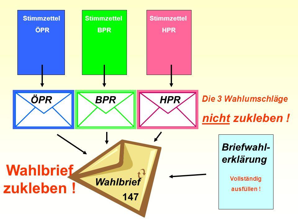 ÖPRBPRHPR Wahlbrief Briefwahl- erklärung Vollständig ausfüllen .